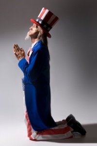 Uncle Sam in Prayer