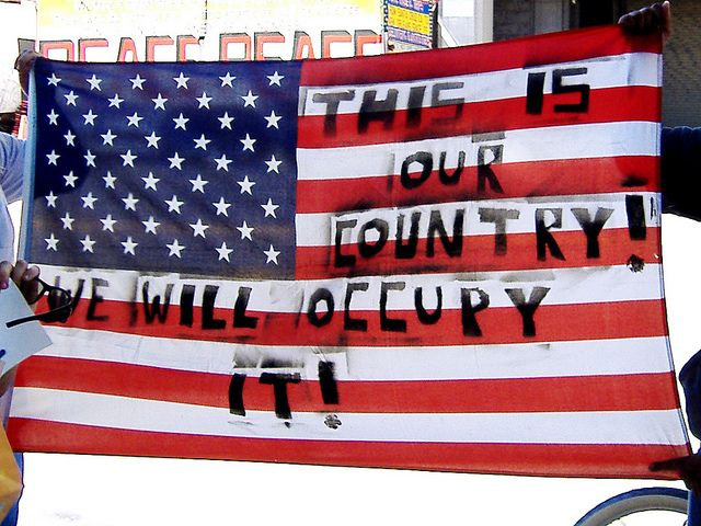 occupy-la-american-flag